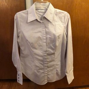 Business button down with hidden buttons